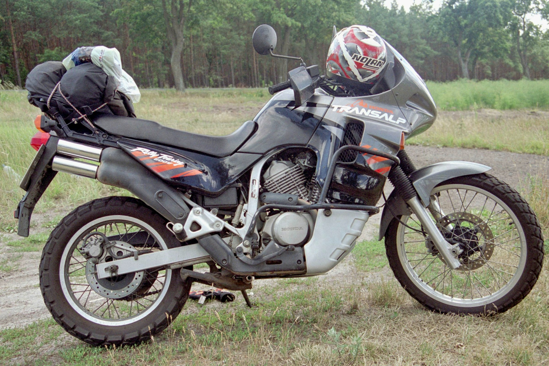 "Ein Motorrad ""Honda Transap"", Baujahr 1996"