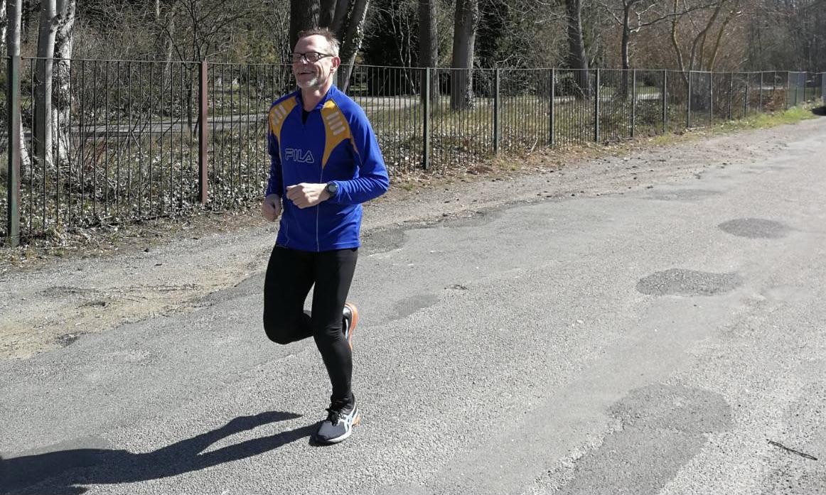 Ich beim Laufen